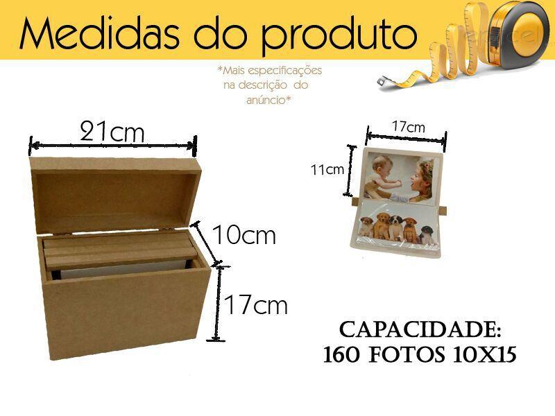 Album De Fotografia Caixa De Albuns 160 Fotos Mdf Cru