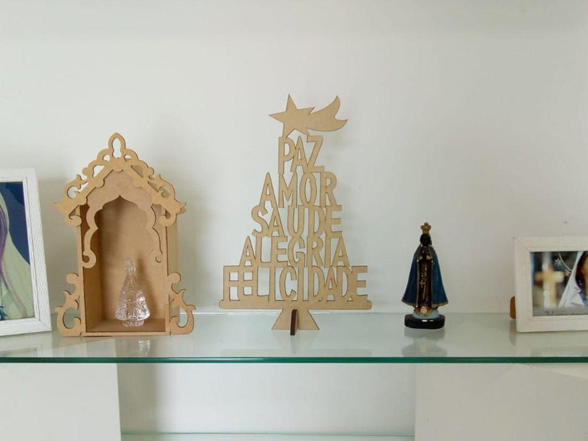 Arvore Em Mdf Cru Natal Decoração