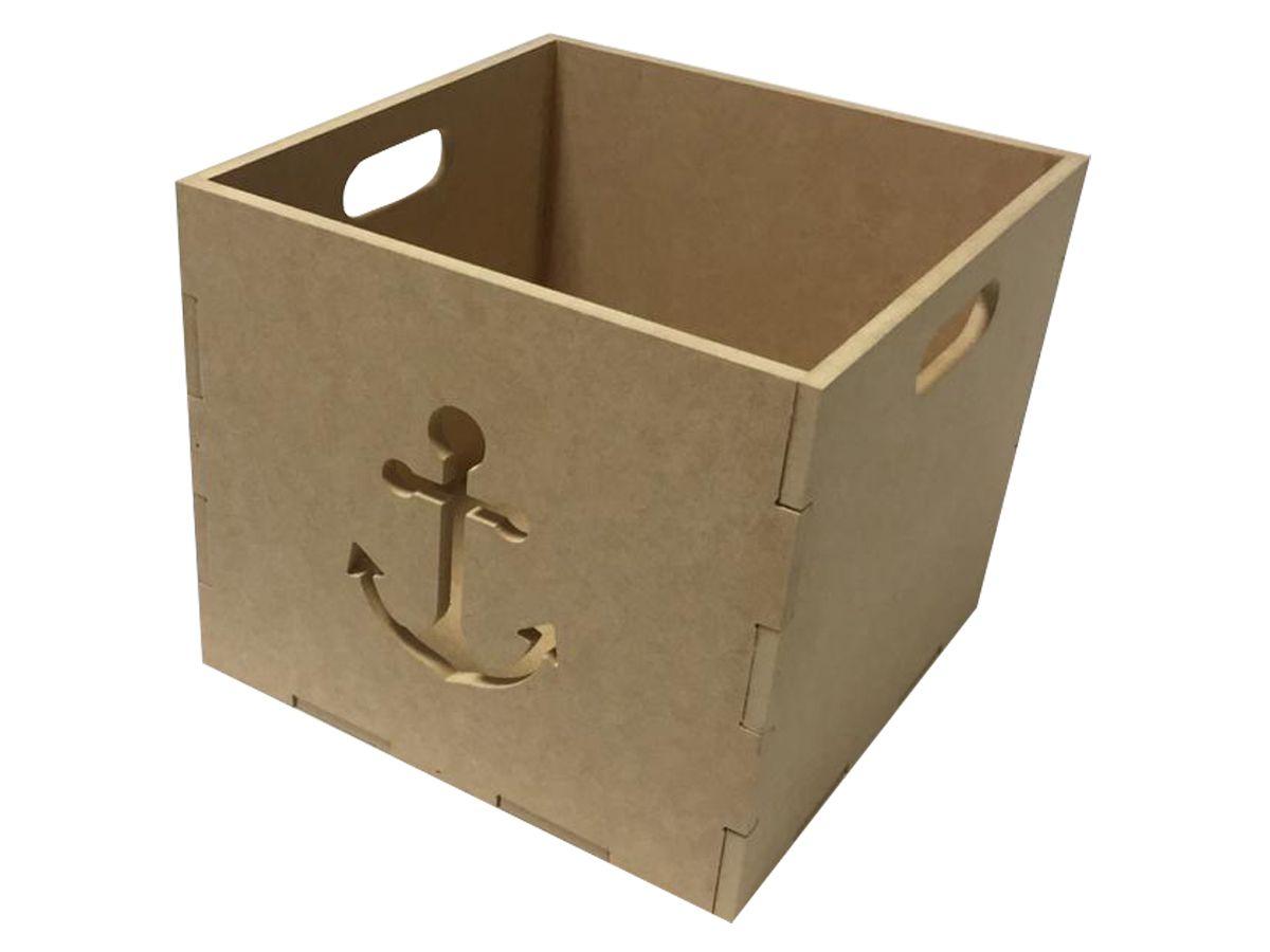 Caixa Organizadora Armário Infantil Mdf Brinquedo