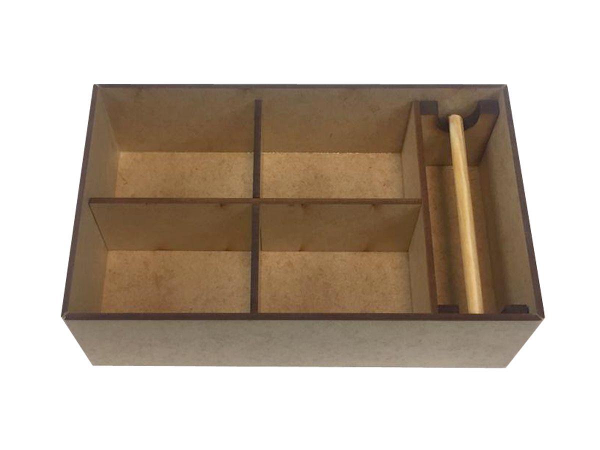 Caixa Para Bijuterias com Porta Anéis