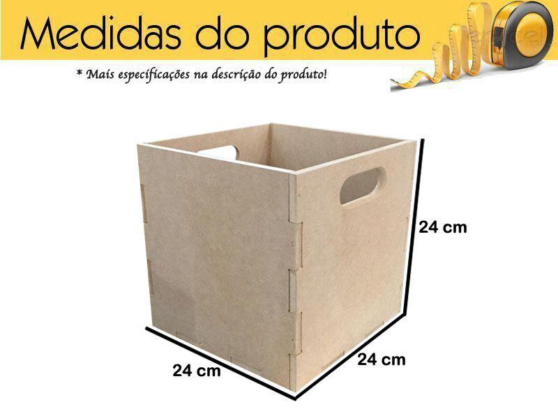 Caixa Para Documentos Em Mdf Quadrado Box