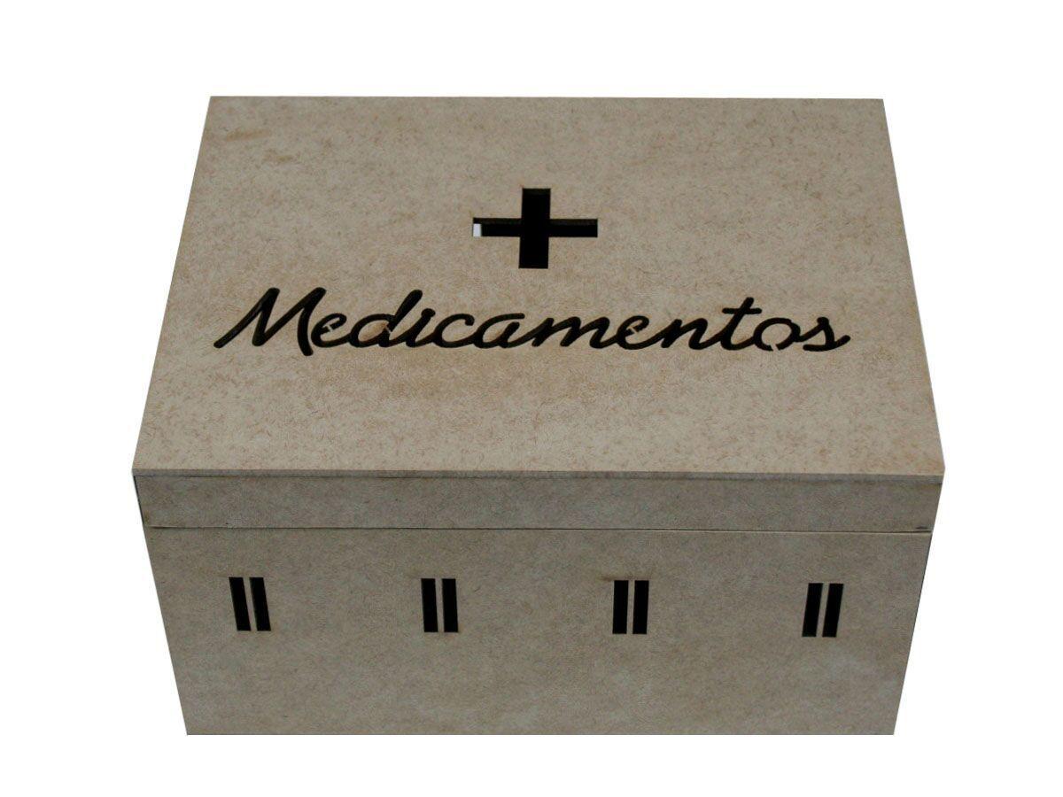 Caixa Para Medicamentos Em Mdf Passa Fita