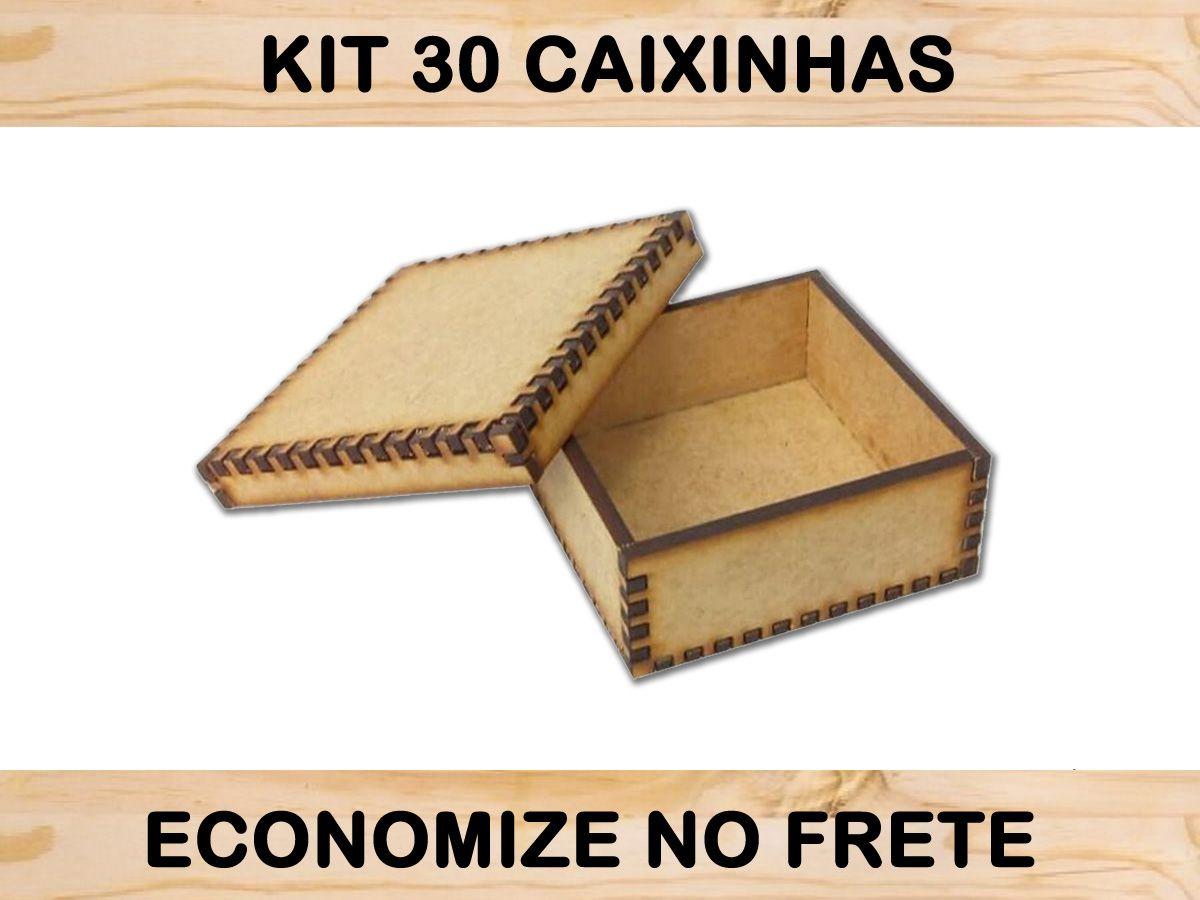 Caixinha Feito De Madeira 30 Unidades Promoção