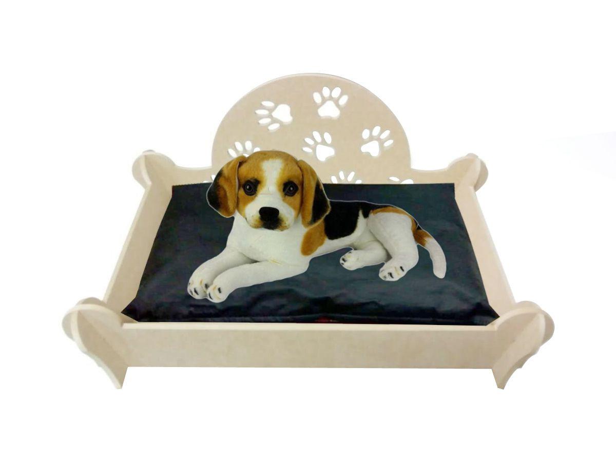 Cama Caminha Sofá Casa Para Pet Cachorro Gato Mdf Crú