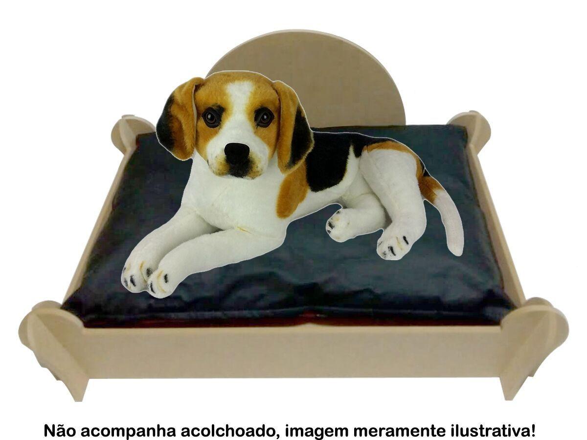 Cama Caminha Sofá Casa Para Pet Cachorro Gato Mdf Cru