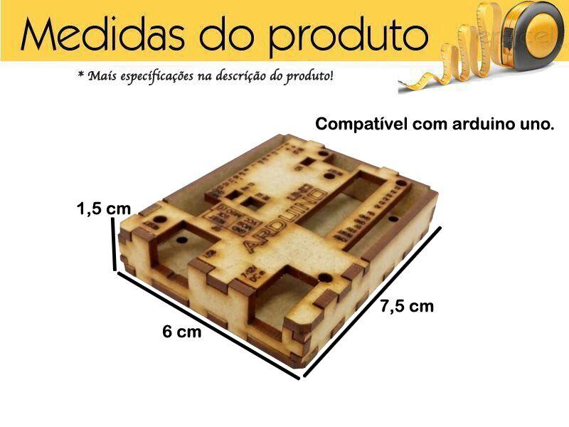 Case Arduino Uno Mdf / Caixa Para Arduino Uno Mdf