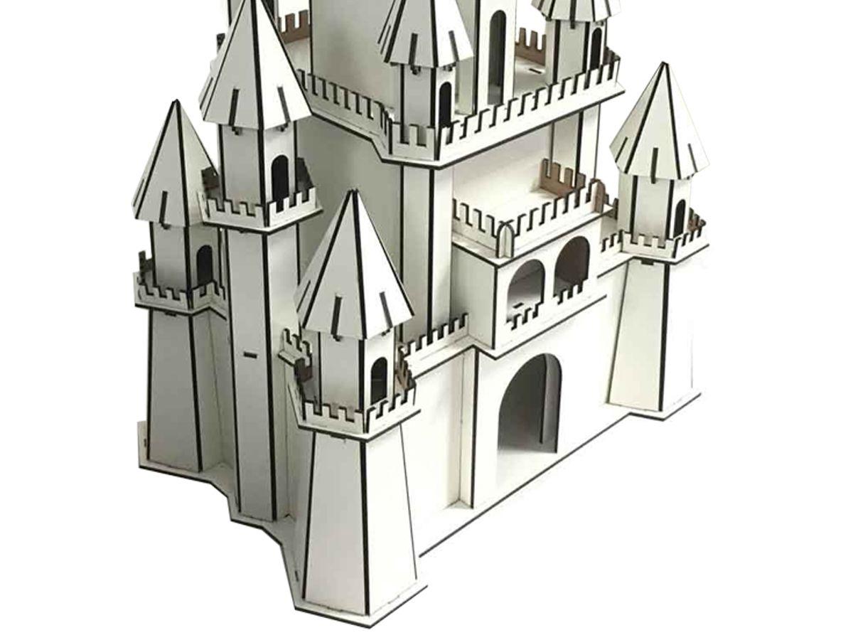 Castelo Princesas Disney 54 Cm Para Montar Em Mdf