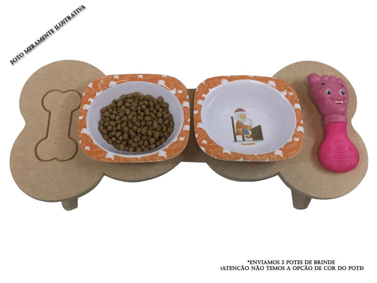 Comedouro E Bebedouro Para Cães E Gatos