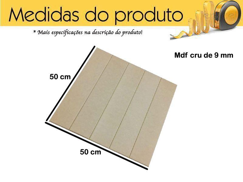 Deck Em Mdf 50x50 Placas De Madeira Cru Kit 2 Unidades