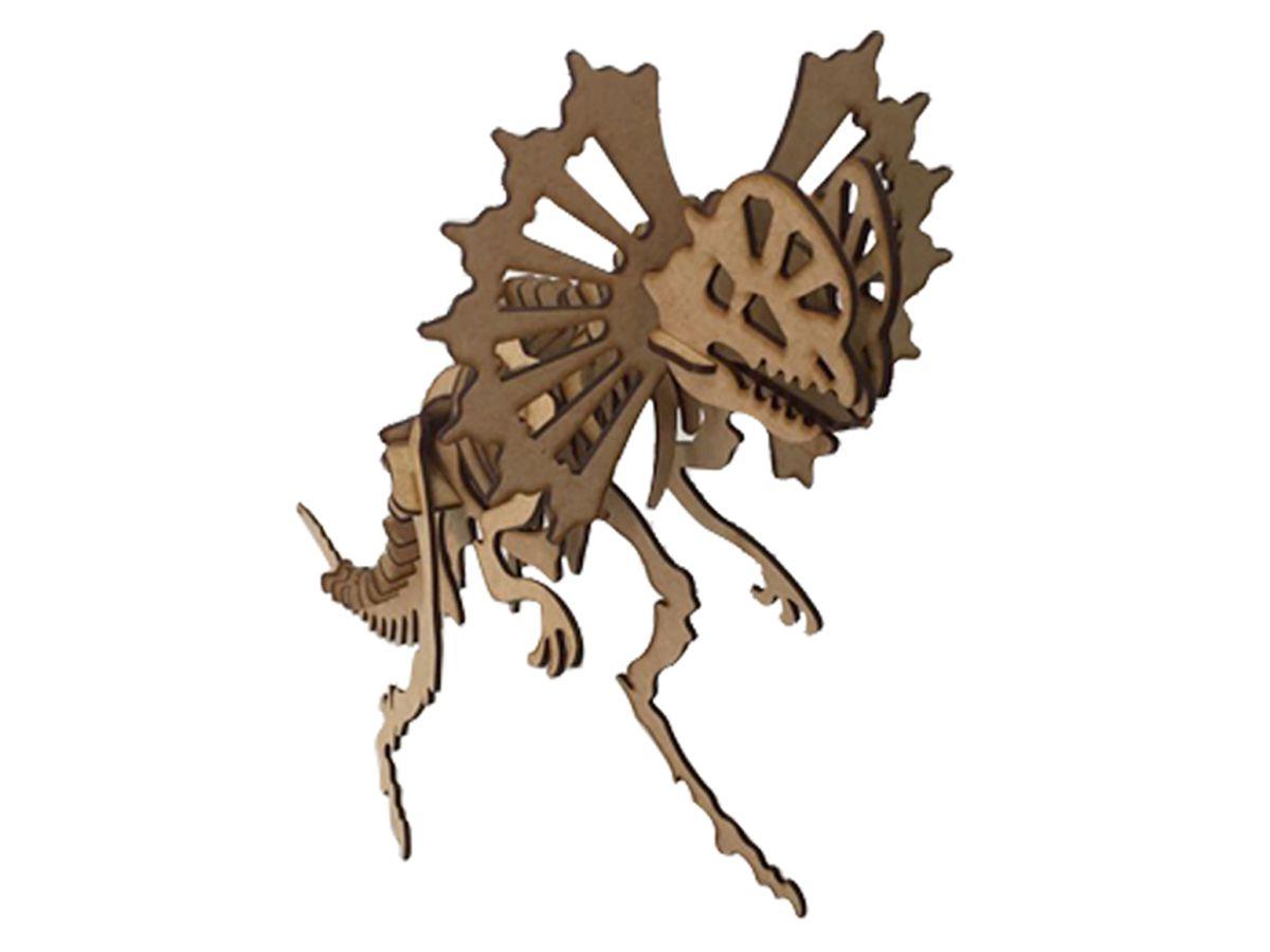 Dinossauro Dilofossauro em Mdf Cru