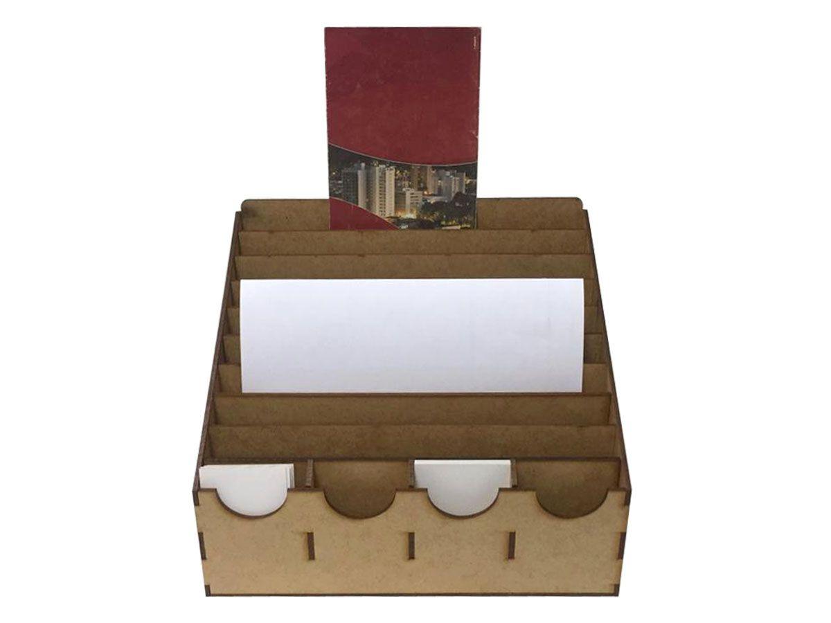 Display Mdf Panfletos Com Porta Cartão De Visita