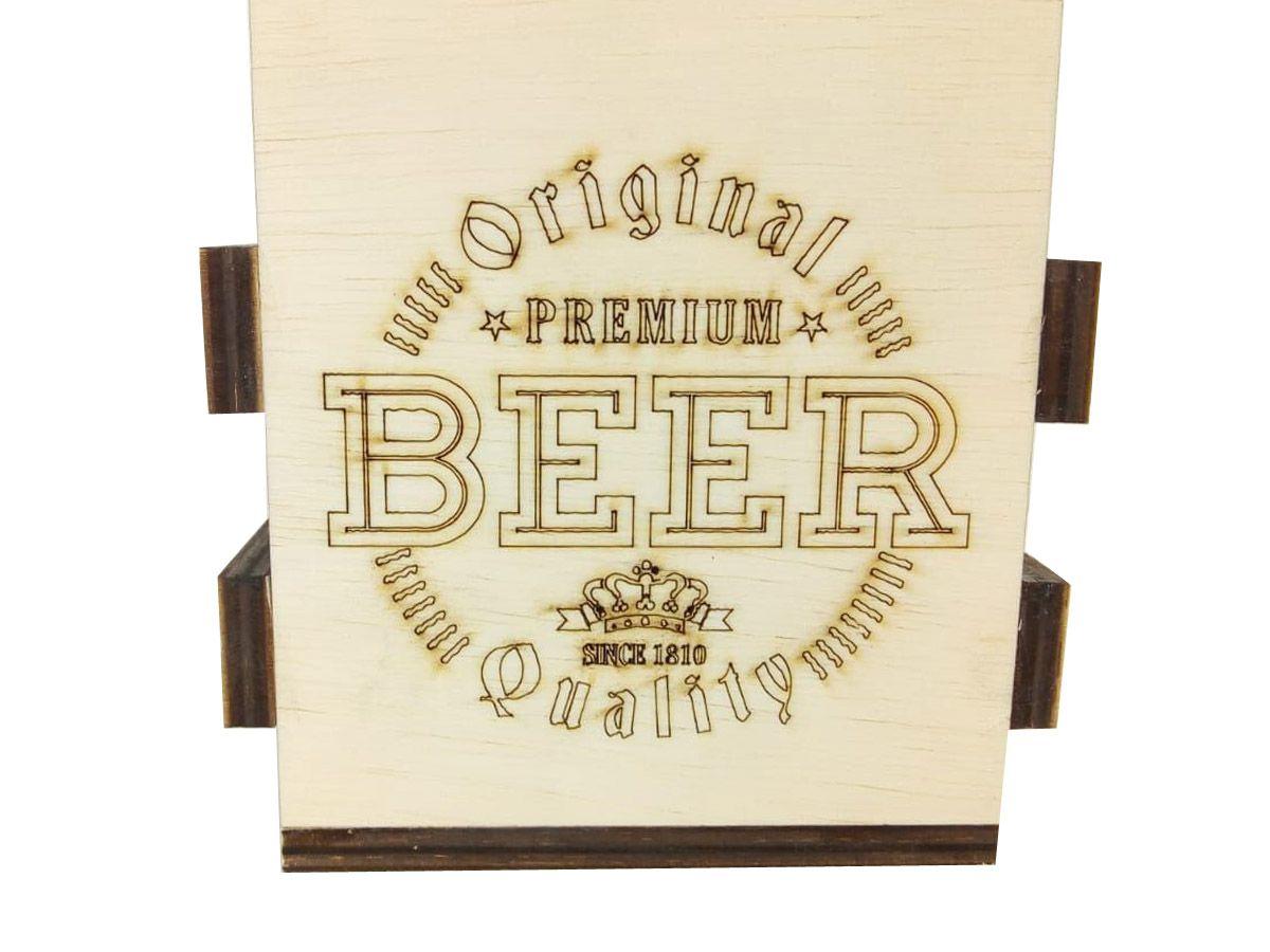 Engradado Para Cervejas Com Abridor 6 Garrafas Beer