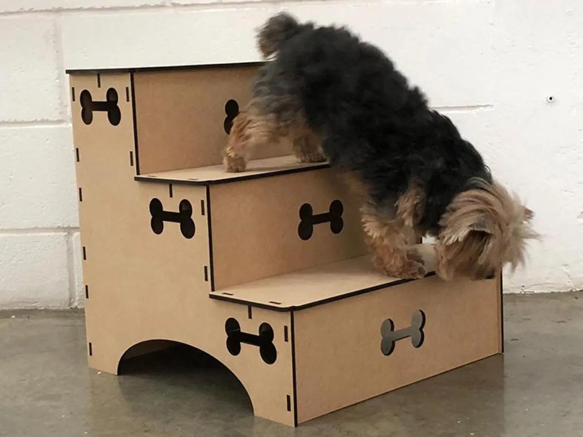 Escada Pet Cachorro e Gato Escada Mdf