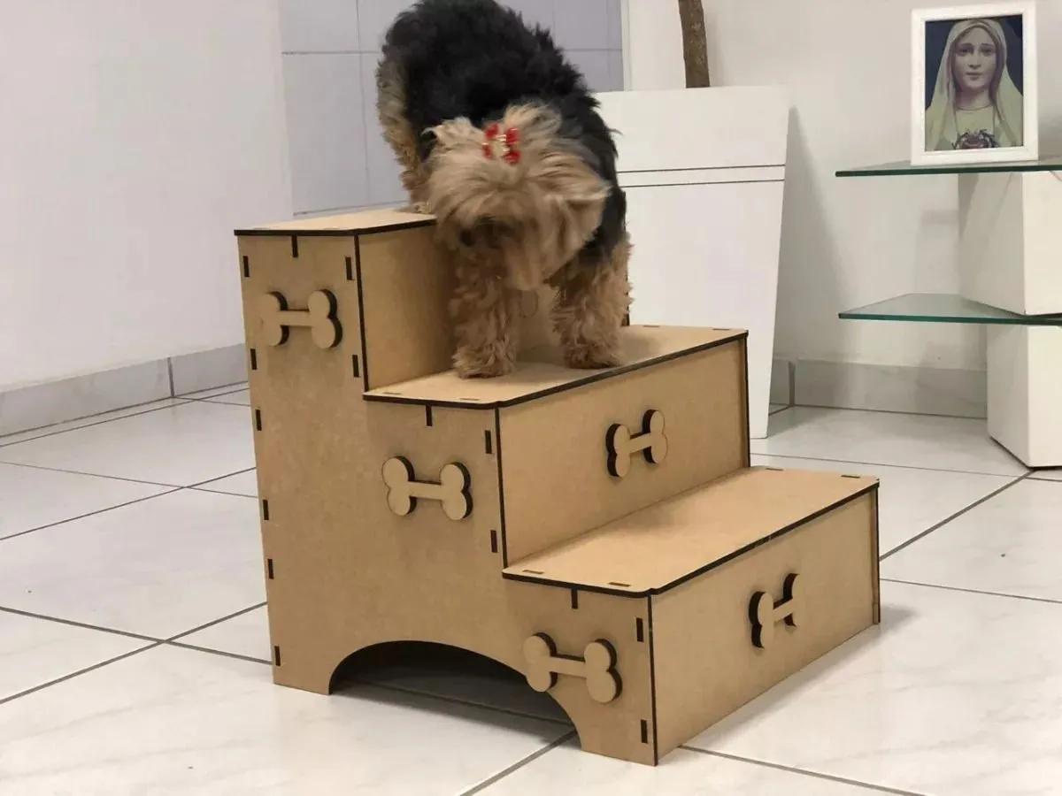 Escada Pet Cachorro Gatos p/ Subir Sofá Cama