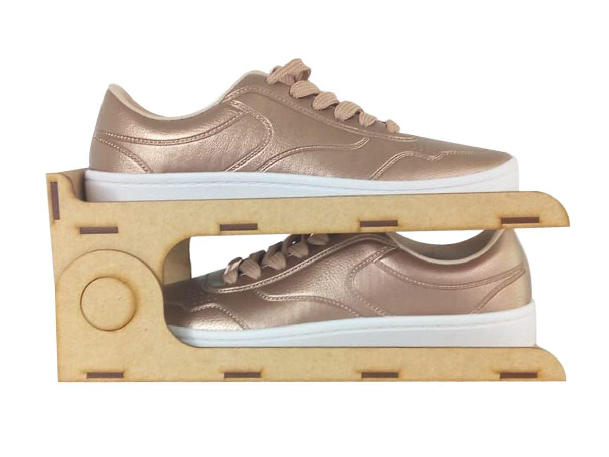Kit 10 Organizadores para Sapatos em Mdf Cru