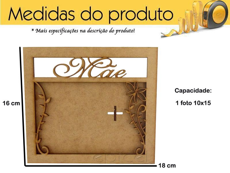 Kit 10 Porta Retrato Dia Das Maes Mdf Lembranças Cru