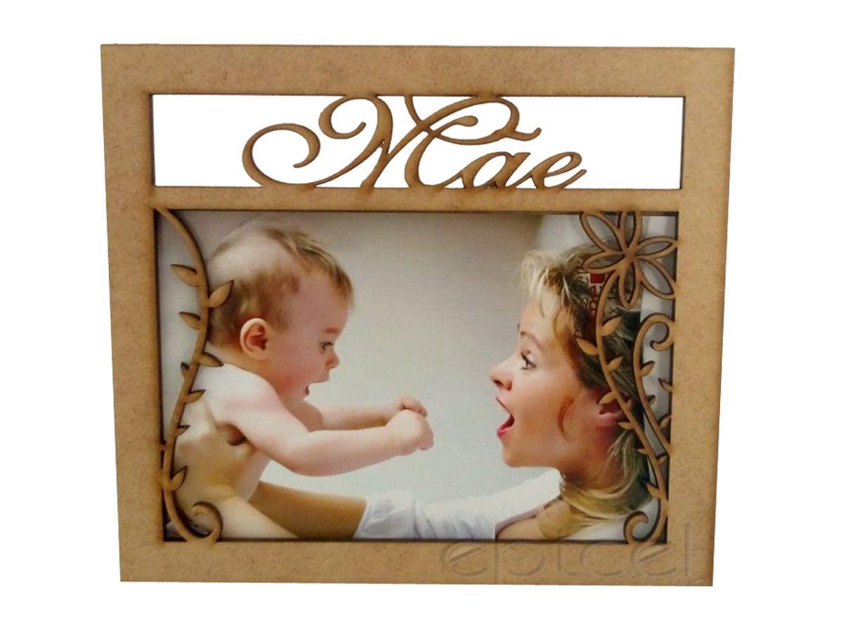 Kit 10 Unidades Porta Retrato Mãe Coração Dia Das Mães