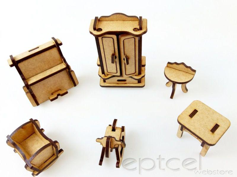 Kit 13 Móveis Para Casinha Polly Pocket