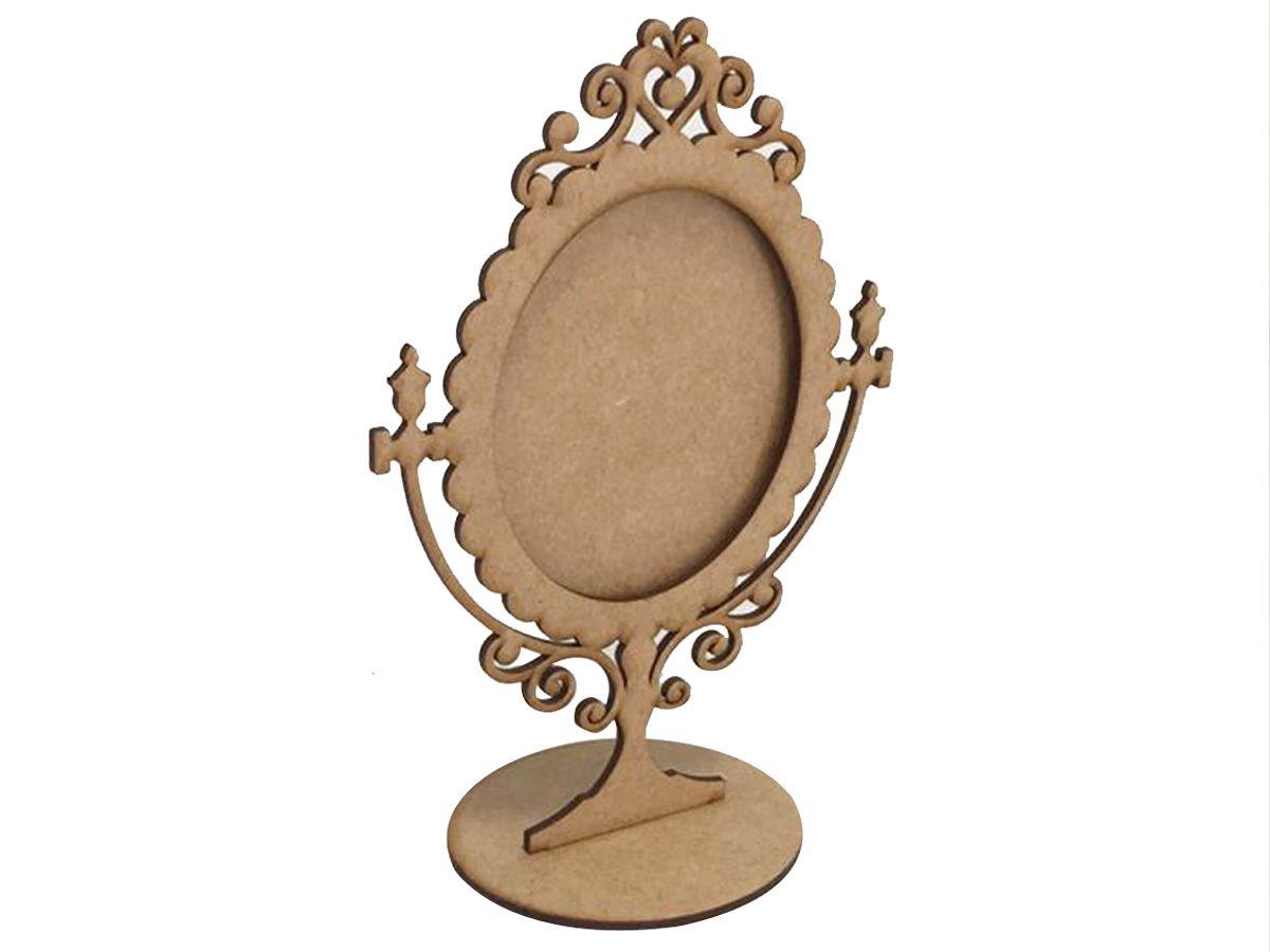 Kit 20 Moldura Espelho De Mesa Mdf Festa Lembrancinhas