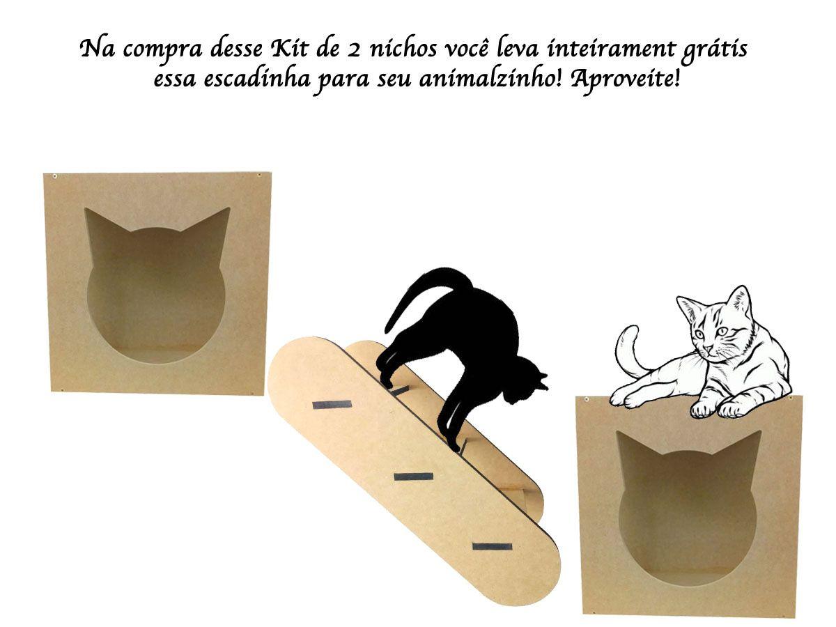 Kit 2 Nichos para Gatos + Brinde Especial