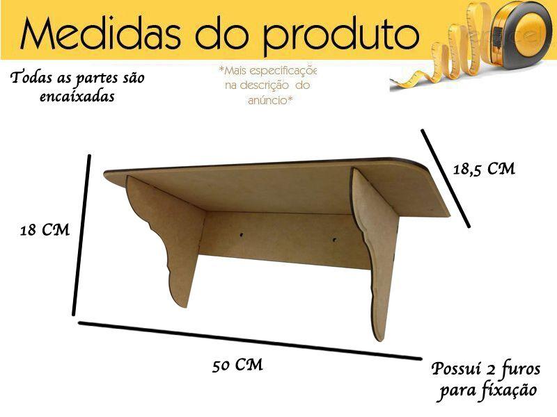 Kit 3 Prateleiras Mdf Decoração Infantil