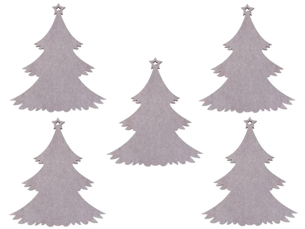 Kit 5 Árvore De Natal Pinheiro