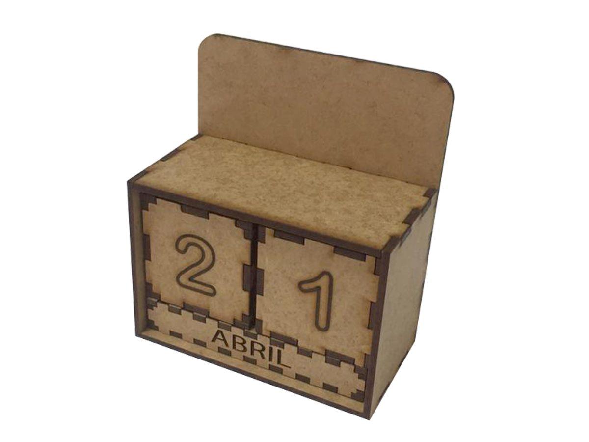 Kit 5 Lembrancinhas Calendario Permanente Mdf