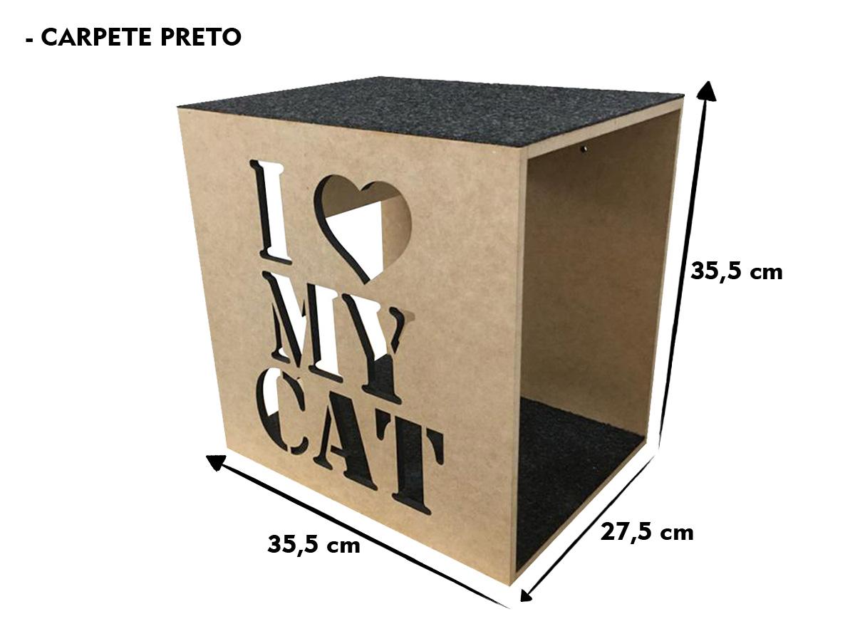 Kit Nicho Gatos 2 Mdf Cru + Carpete