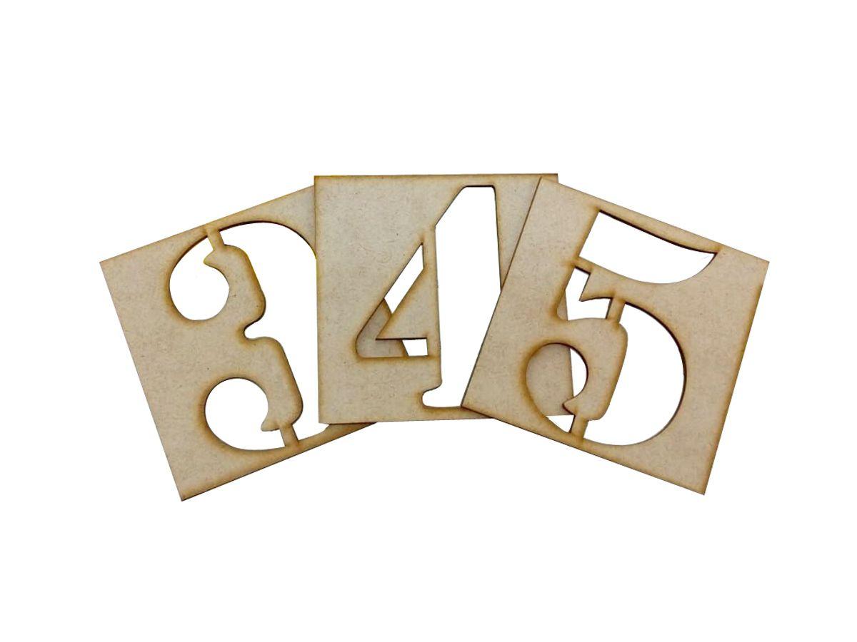Kit Stencil de Números