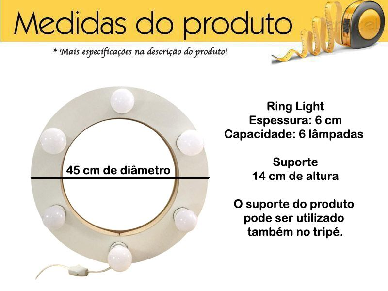 Luz Pra Selfie Ring Light Flash