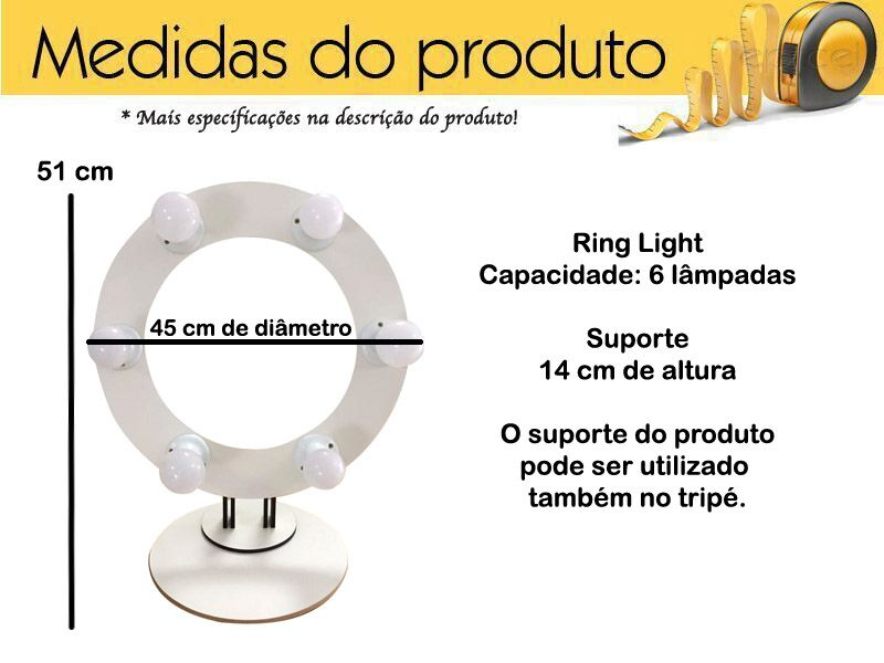 Luz Selfie Ring Light Clipe Led Flash Universal