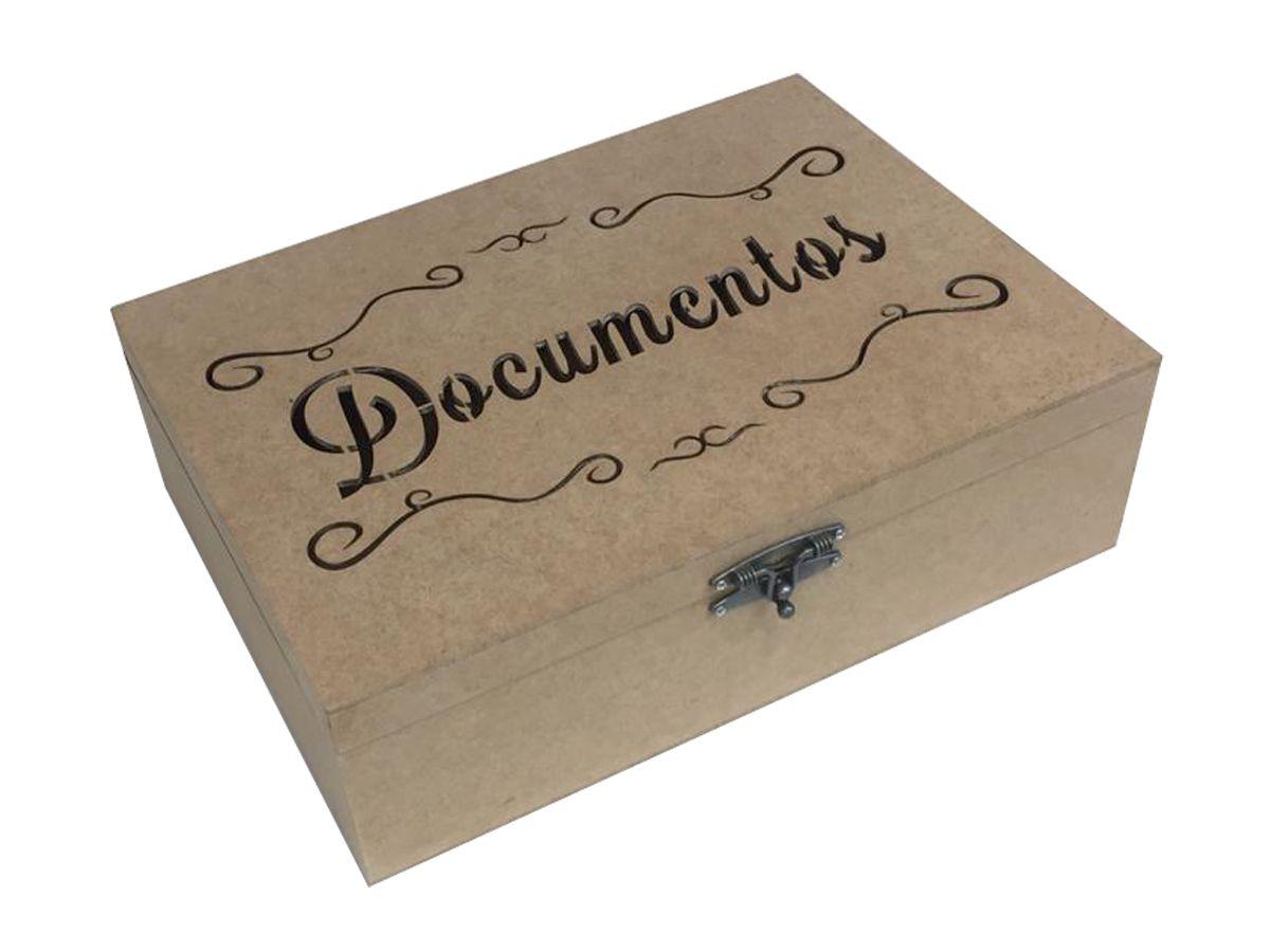 Organizador De Documentos Em Mdf Cru