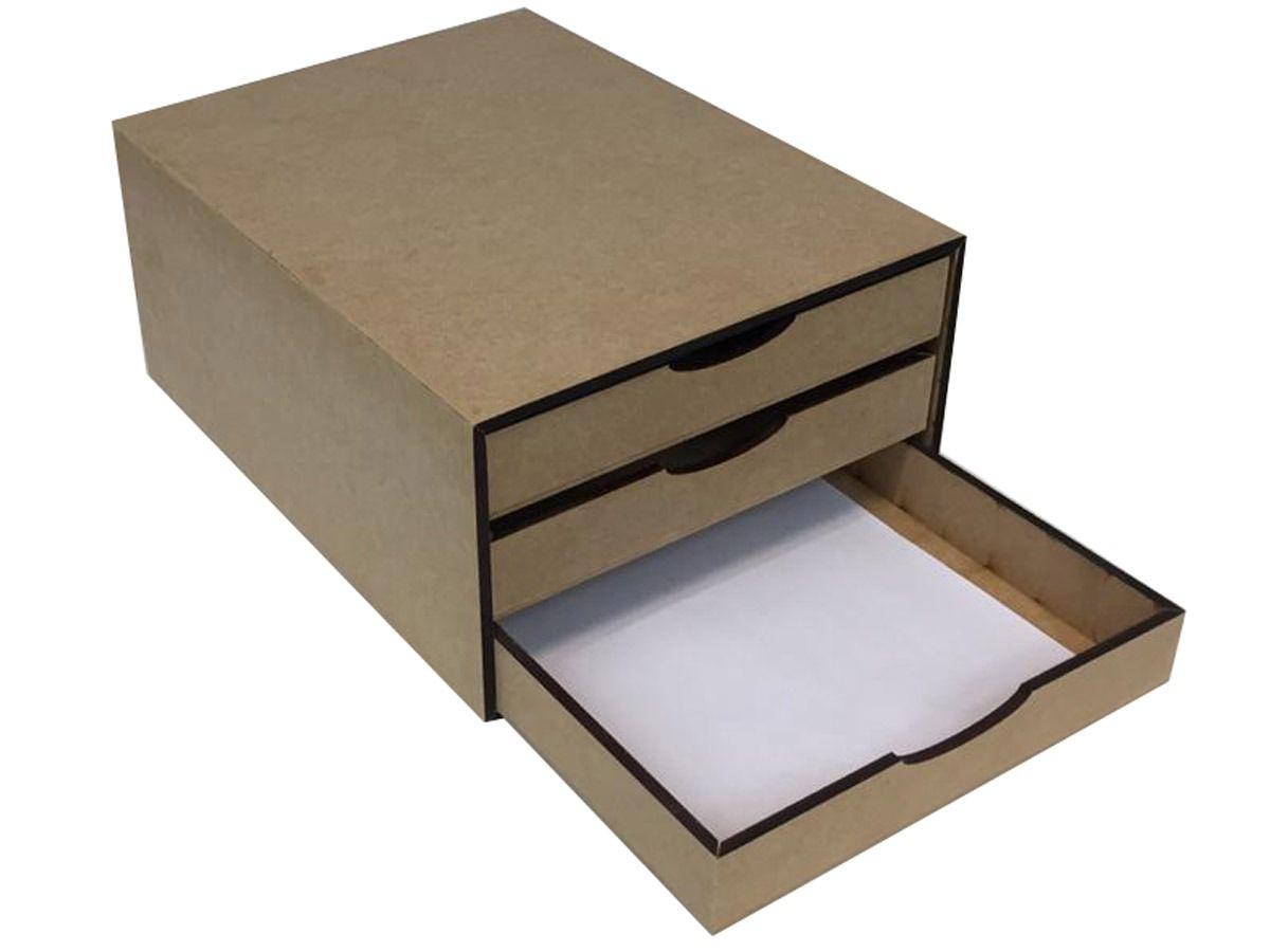 Organizador Para Documentos 3 Gavetas Para Escritorio