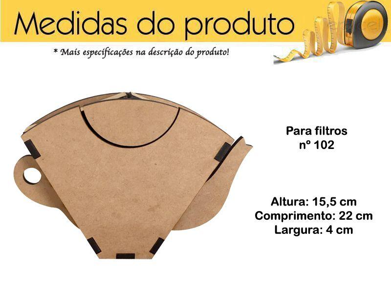 Porta Filtro De Cafe 102 Presente De Mdf