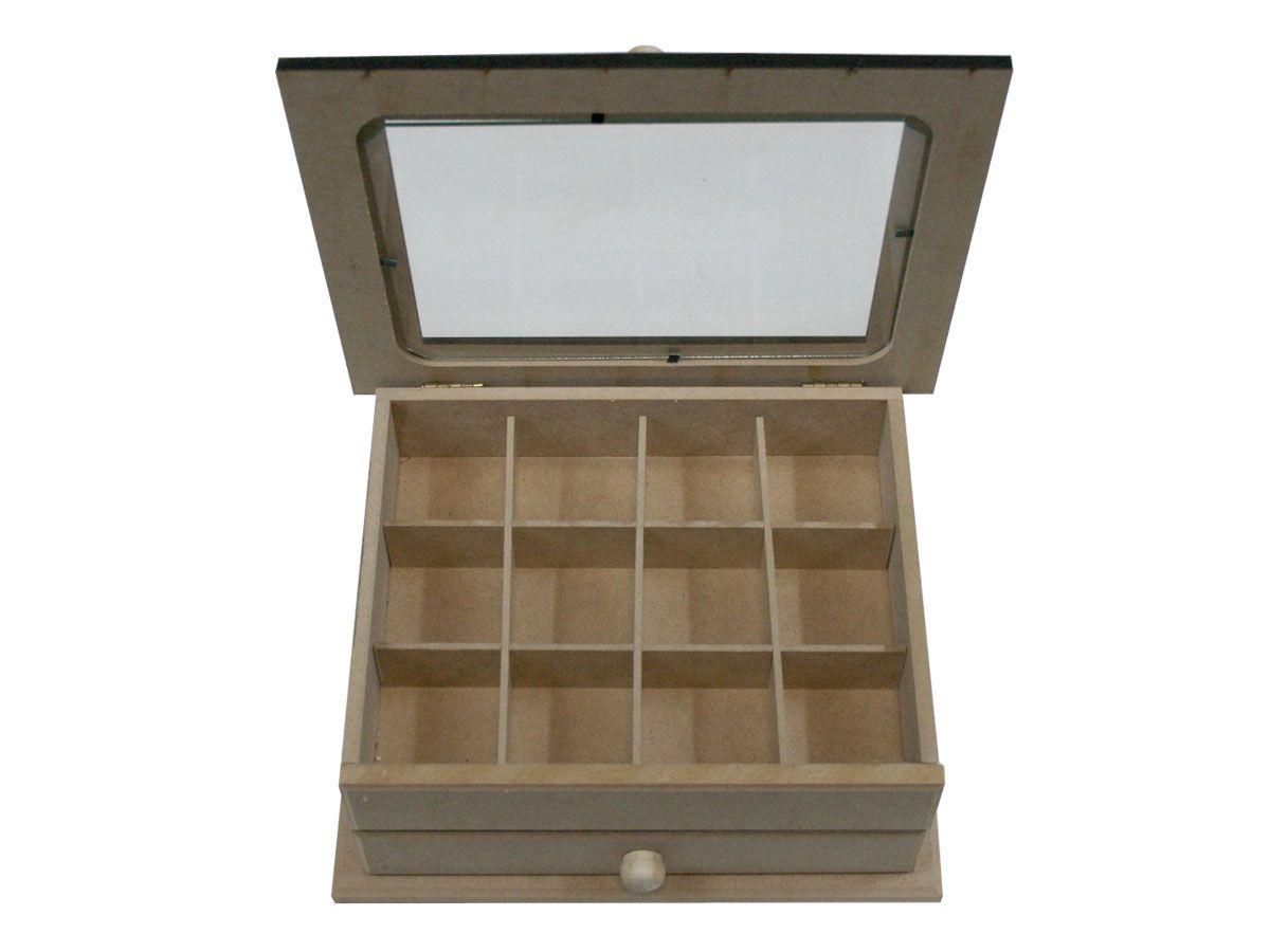 Porta Joia Organizador De Bijuterias Caixa Em Mdf