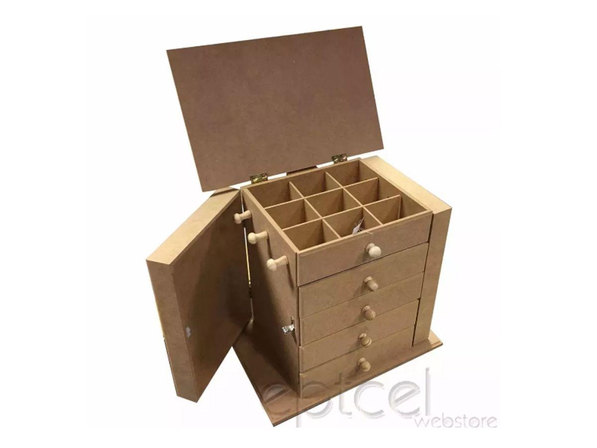 Porta Joia Organizador Feito De Madeira Kit 2 Unidades