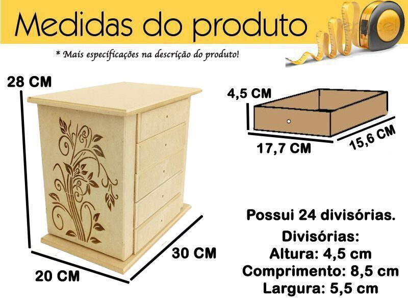 Porta Joia Organizador P/ Bijuterias Biju