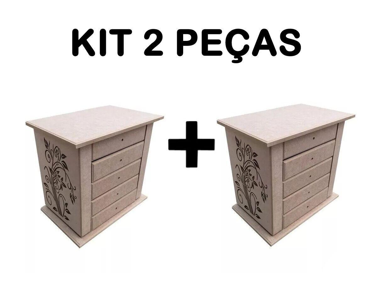 Porta Joia Organizador P/ Bijuterias Biju Kit 2 Peças