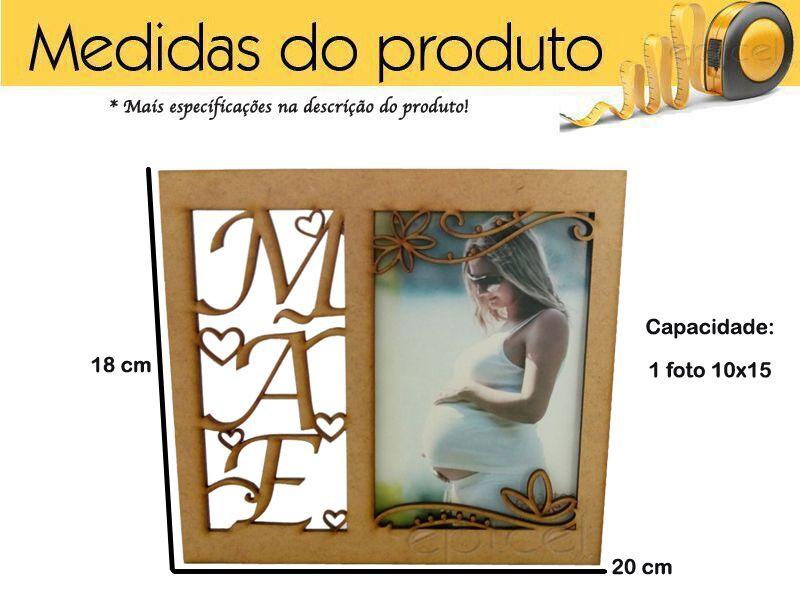 Porta Retrato Dia Das Maes 10x15 Em Mdf Lançamento