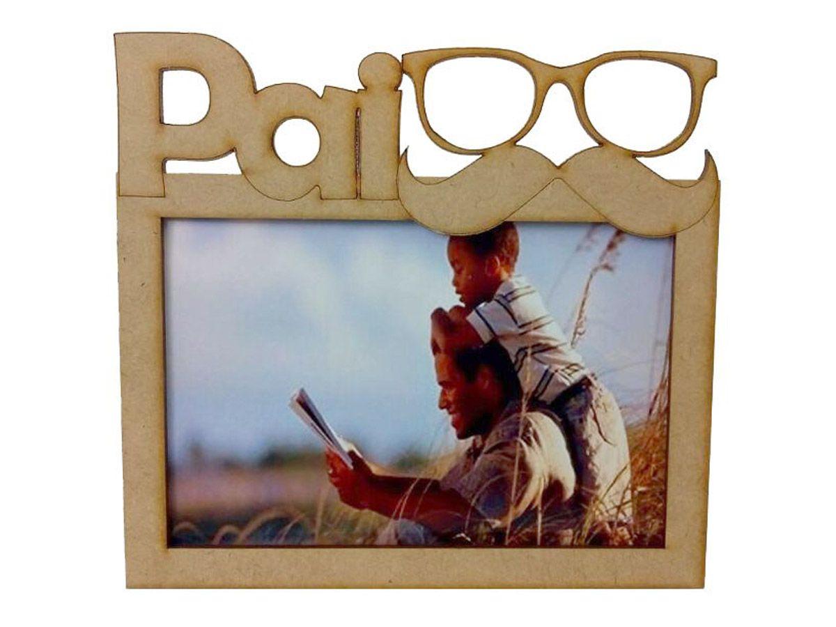 Porta Retrato Dia Dos Pais Mdf Cru Lembranças Kit 10 Unidades
