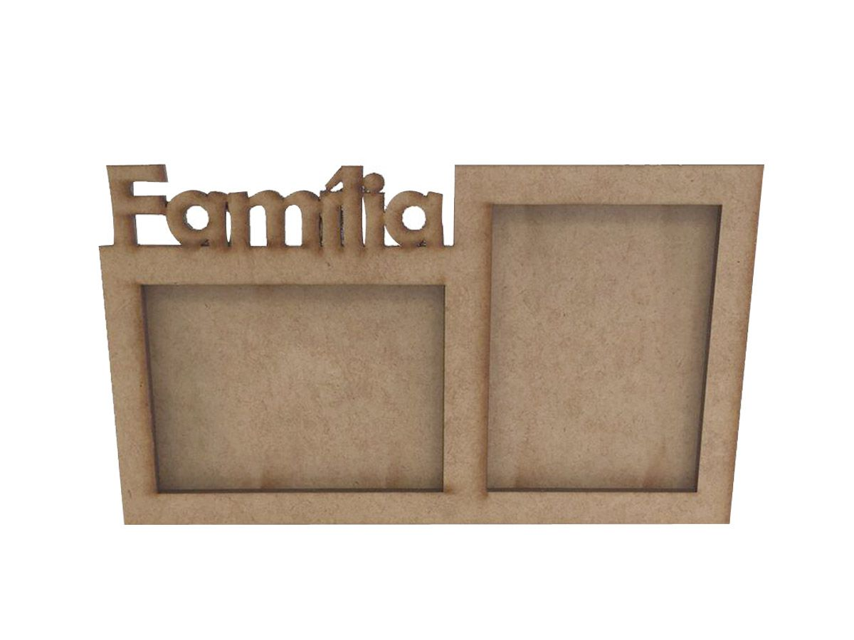 Porta Retrato Família Mdf Quadro Personalizado Foto Kit 16 Peças