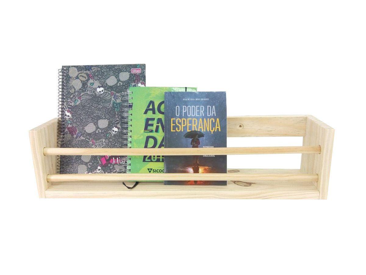 Prateleira Para Livros Infantil Montessoriano 62 Cm