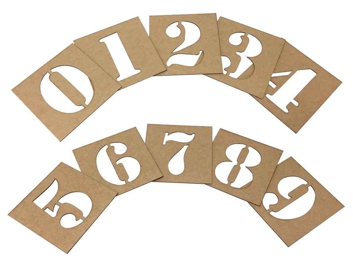 Stencil de Números 15 cm Molde
