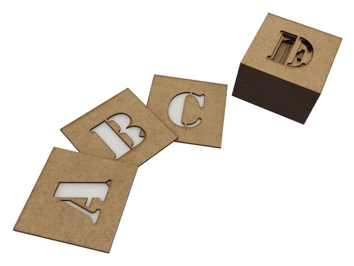 Stencil Molde Vazado Letras 5,5 Cm