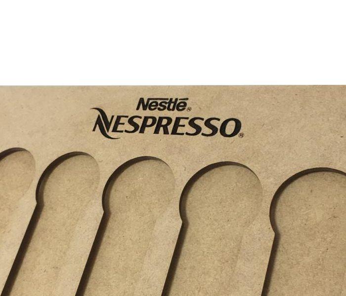 Suporte Porta Cápsulas Café Nespresso Mdf Cru
