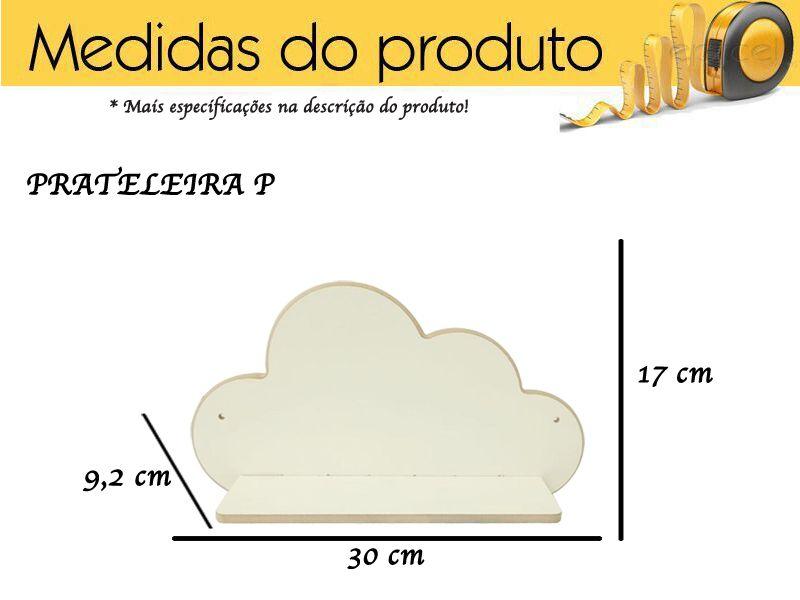 Trio De Prateleira Nuvem Decoração P M G Mdf Branco