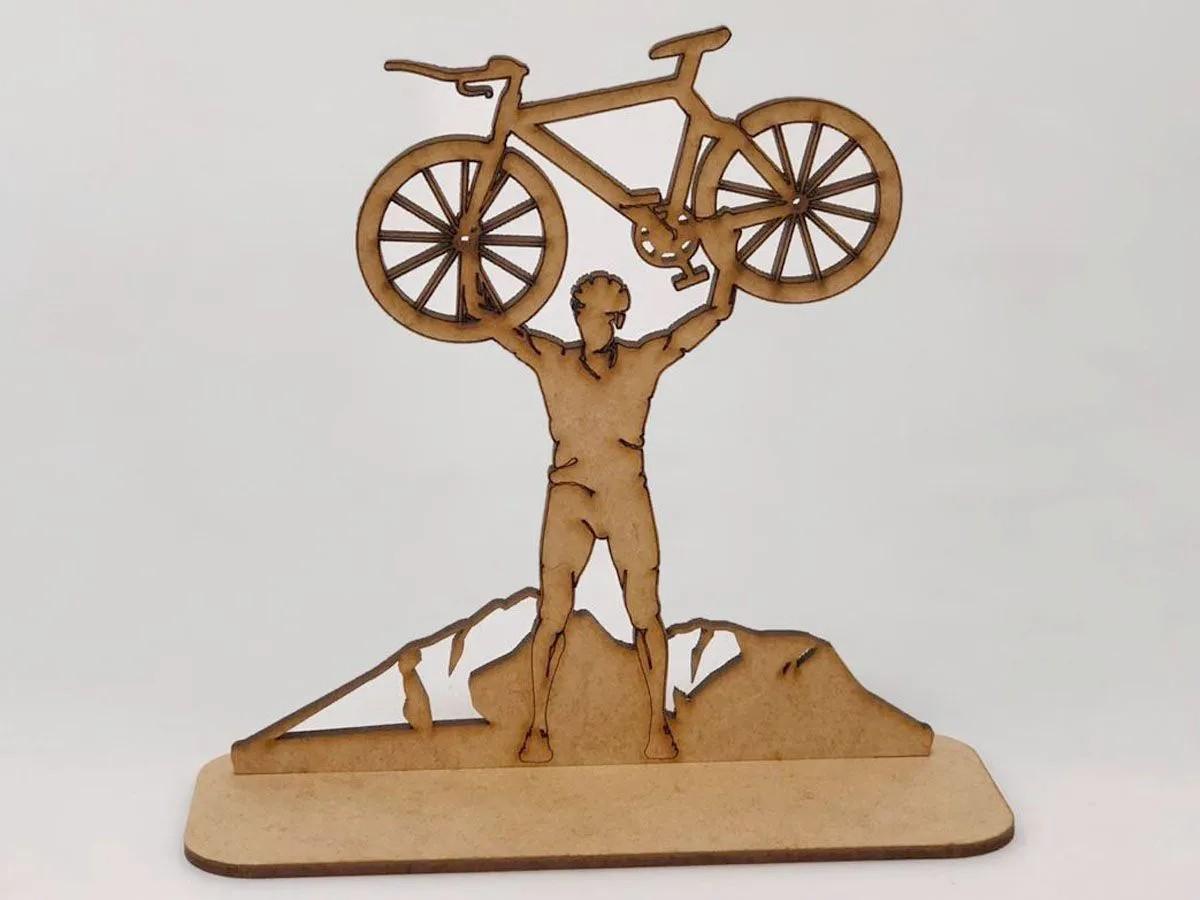 Troféu Em Mdf Eventos Para Bike Speed Kit 20 Un