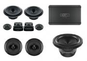 Combo Hertz Kit 2 Vias Esk 165L.5 + Coaxial Ecx 165.5 + Subwoofer Es 200.5 + Amplificador Hcp 4