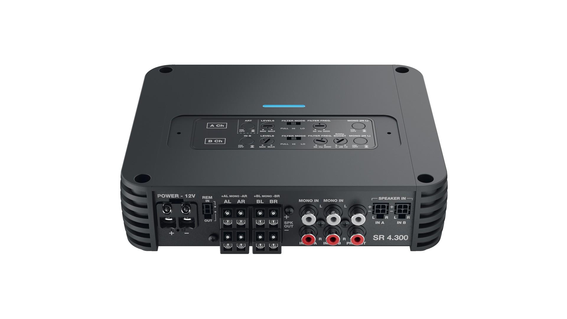 Amplificador Módulo Com Crossover Audison Sr 4.300 4 Canais 500W