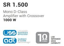 Amplificador Módulo Mono Com Crossover Audison Sr 1500 - 1 Canal 1000W